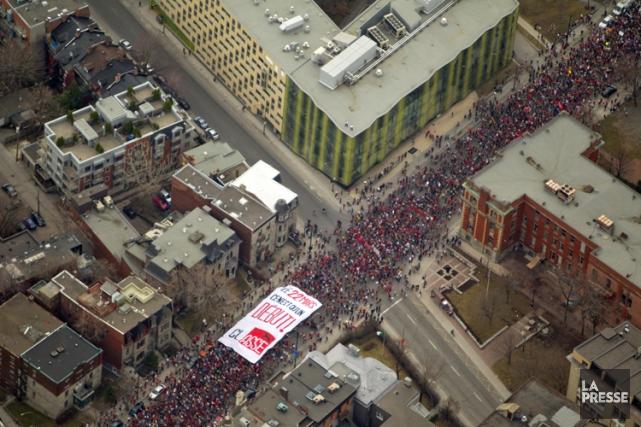 La grande manifestation du 22 mars 2012. Le... (Photo: Alain Roberge, La Presse)