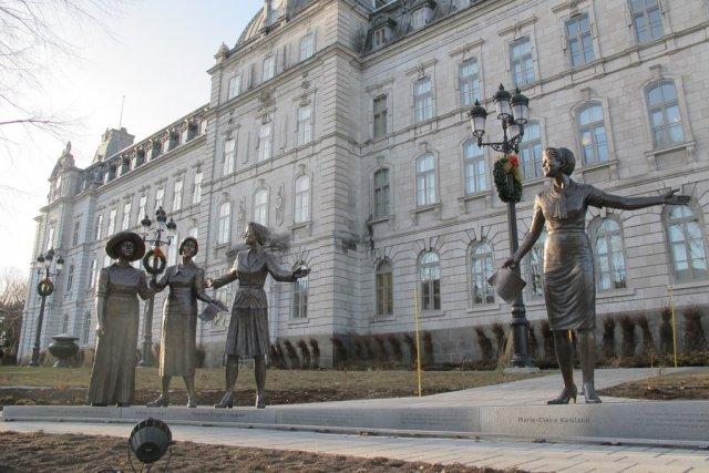 Un monument en hommage aux femmes en politiqueprès... (Photo fournie par l'auteur)