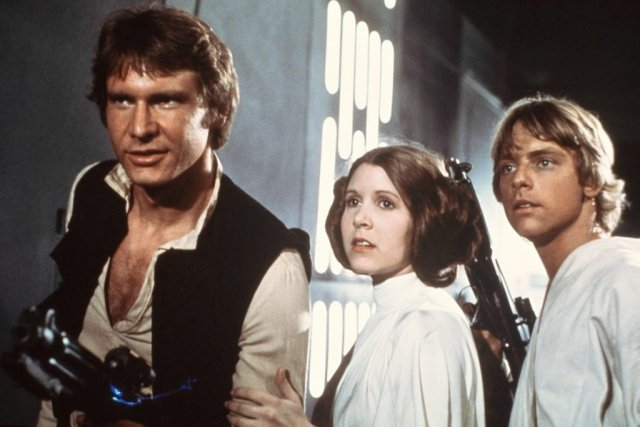 Harrison Ford, Carrie Fisher et Mark Hamill dans... (Photo: AP)