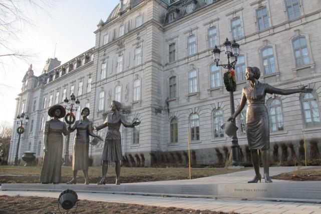 Un monument en hommage aux femmes en politiqueprès... (Photo courtoisie)