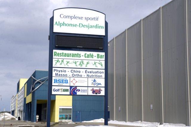 Les  fondations du Centre sportif Alphonse-Desjardins de... (Photo: Stéphane Lessard)