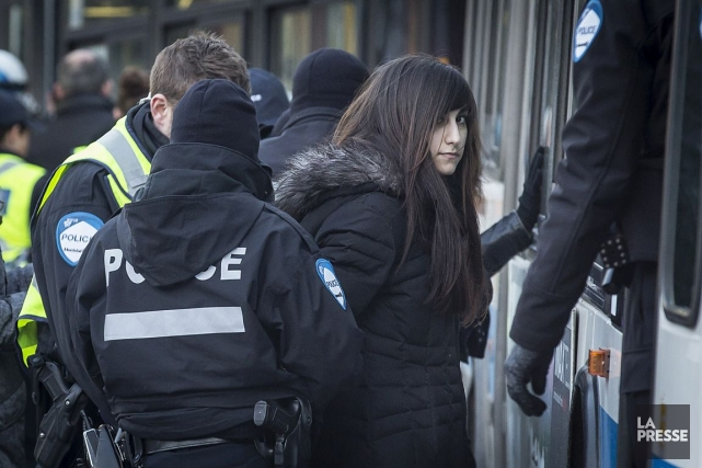 La manifestation de vendredi n'a tout simplement pas... (Photo: Olivier PontBriand, La Presse)
