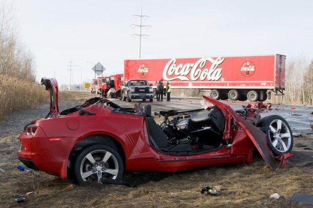 La collision mortelle serait survenue vers 5 heures... (Photo Stéphanie Mantha)