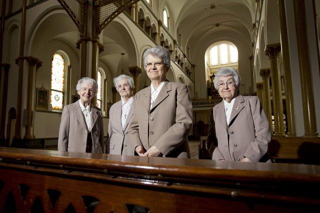 Les soeurs Anita Poitras (91 ans), Cécile Montpetit... (Photo: Alain Roberge, La Presse)