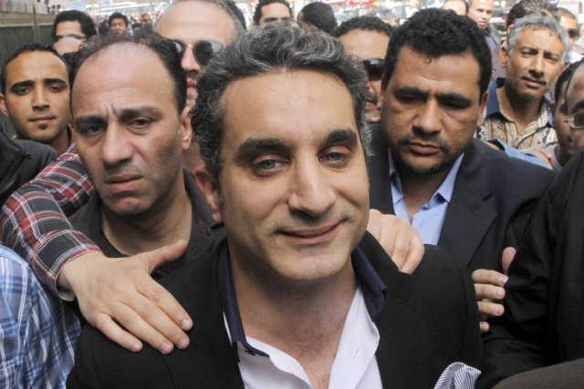 Bassem Youssef, ex-cardiologue converti à la comédie.... (PHOTO AMIR NABIL, ARCHIVES AP)