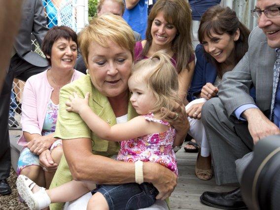 En campagne électorale, la première ministre Pauline Marois... (Photo Alain Roberge, La Presse)