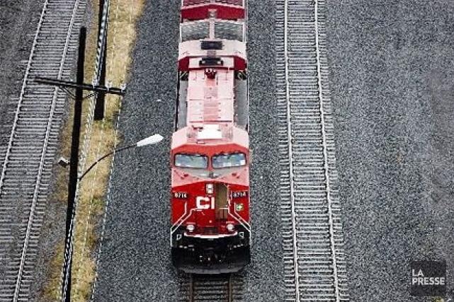 Un train de marchandises de la compagnie Canadien Pacifique a déraillé mercredi... (Photothèque La Presse)