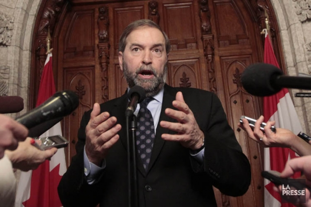 Le chef du NPD Thomas Mulcair.... (Photo: Le Droit)