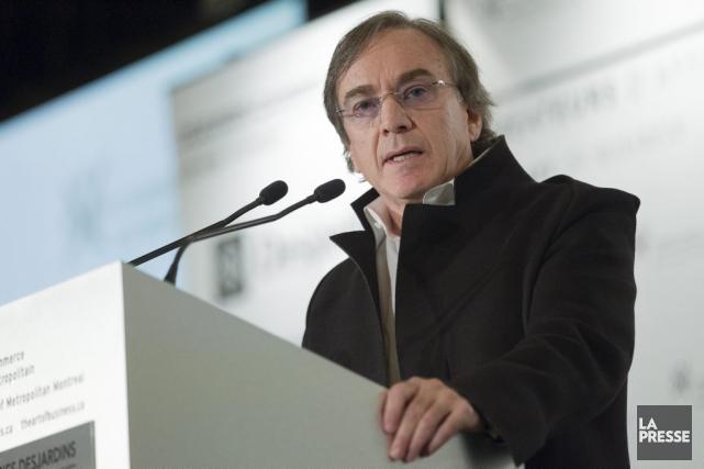 Daniel Lamarre a prononcé une allocution devant la... (Photo: Édouard Plante-Fréchette, archives La Presse)