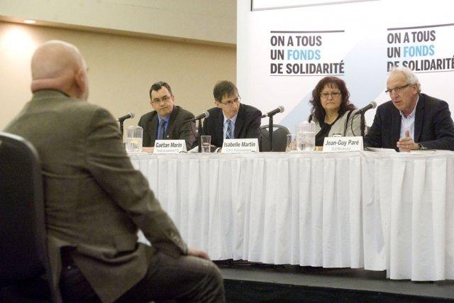 La conférence de presse du Fonds de solidarité... (Photo: Stéphane Lessard)