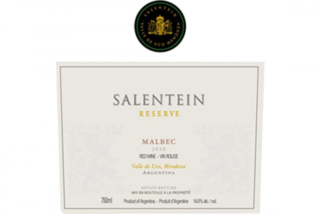 Salentein Reserve Malbec 2010 Code SAQ: 11871442 20,20$... (PHOTO LA PRESSE)