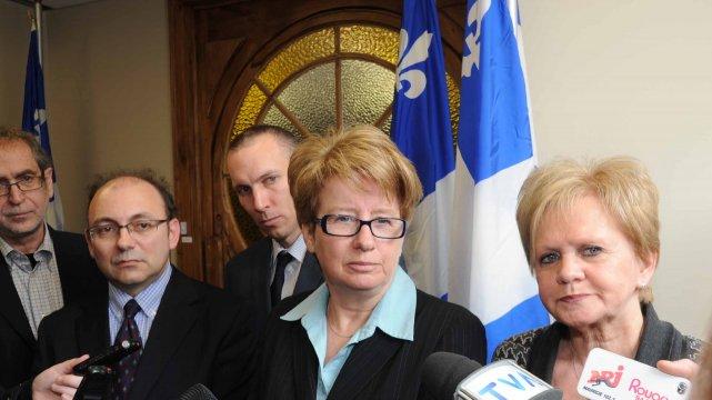 De gauche à droite: Jean Dion, président de... (photo: Sylvain Maye)