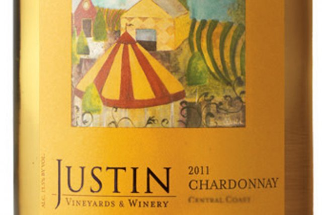 Étiquette du Central Coast 2011 Chardonnay Justin Vineyards... (Photo La Presse)