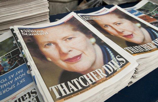 Le décès de l'ancienne première ministre Margaret Thatcher,... (Photo Will Oliver, Agence France-Presse)