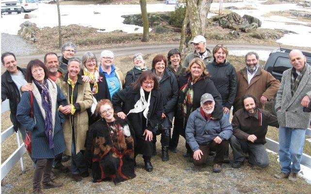 Une photo de famille des producteurs et des... (Jessy Laflamme, LeDroit)
