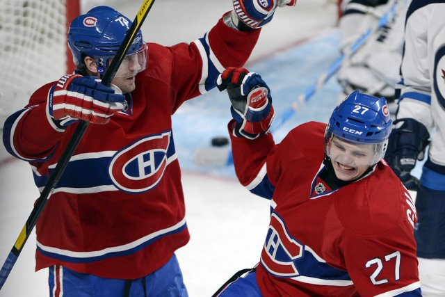 Michael Ryder et Alex Galchenyuk... (Photo Ryan Remiorz, PC)