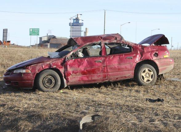 Quatre personnes ont été blessées lors d'un accident... (Photo Isabelle Tremblay)