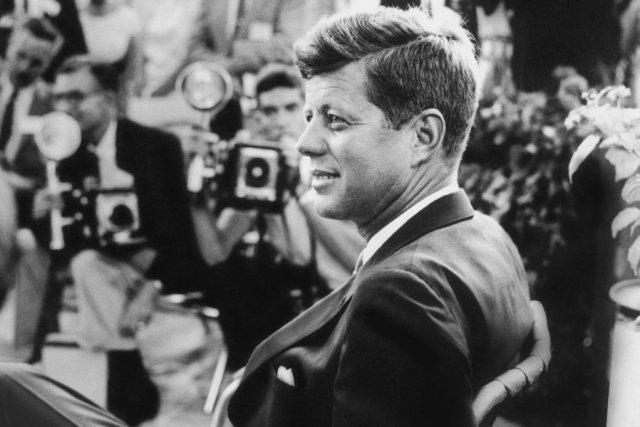 Une des photos de JFK présentées au Newseum... (Photo d'archives)