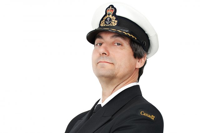 Sylvain Bertrand, capitaine d'un brise-glace de la Garde... (Photo : Martin Flamand)