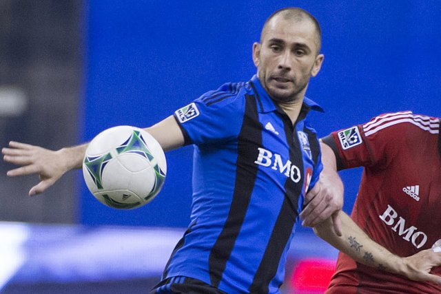 L'attaquant de l'impact Marco Di Vaio.... (Photo Peter McCabe, PC)