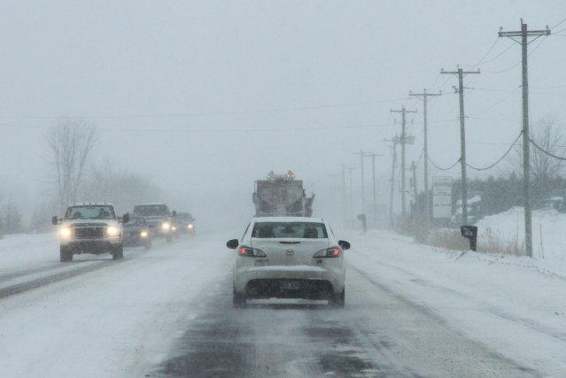 La prudence est de mise sur les routes de la région. Les conditions routières... (archives La Voix de l'Est)