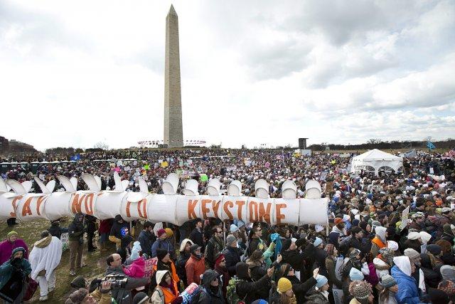 Bill McKibben a organisé plusieurs manifestations contre le... (Photo: archives AP)
