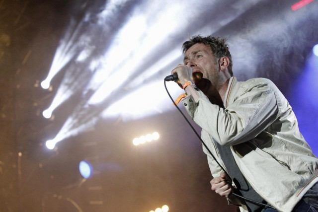 Damon Albarn, chanteur de Blur, lors d'un spectacle... (Photo: archives Reuters)
