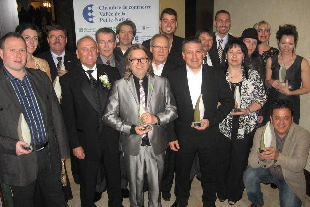 La Chambre de commerce Vallée de la Petite-Nation (CCVPN) a honoré ses... (Photo Jessy Laflamme, Le Droit)