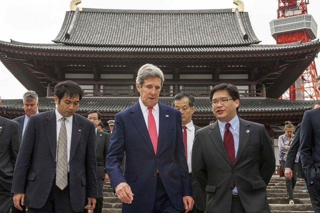 Le secrétaire d'État américain John Kerry, de passage... (Photo: Reuters)
