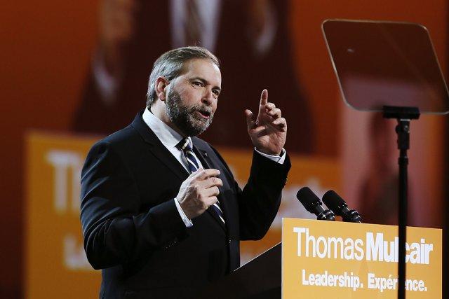 Le chef du Nouveau Parti démocratique, Thomas Mulcair,... (Photo: Reuters)