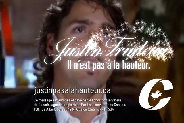 Capture d'écran tirée d'une vidéo mise en ligne... (Image: justinpasalahauteur.ca)