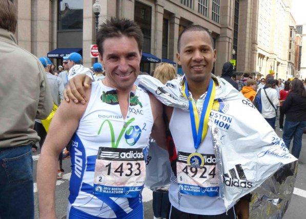Luc Tremblay et Hervé Stecq de l'équipe VO2... (Courtoisie)