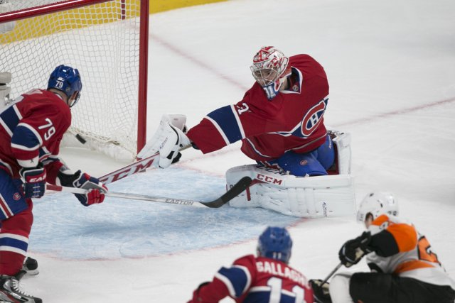 Carey Price a concédé six buts aux Flyers.... (Photo André Pichette, La Presse)
