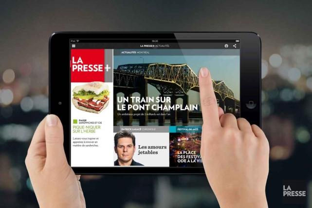 La Presse+ s'est de nouveau distinguée en remportant, cette fois, le 3e prix... (Photo: archives La Presse)