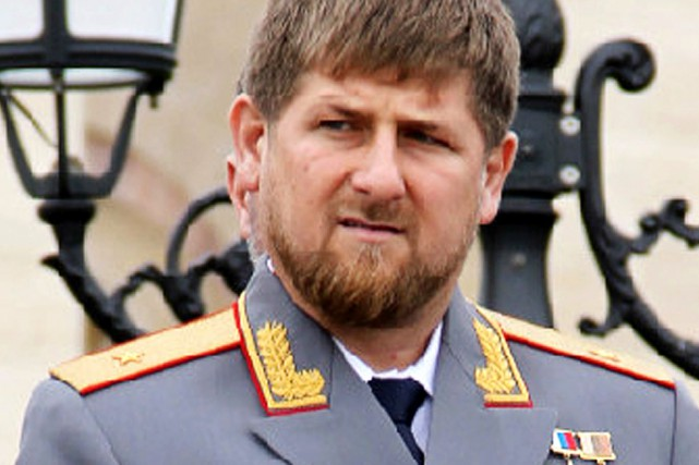 Le président tchétchène Ramzan Kadyrov... (PHOTO archives AFP)