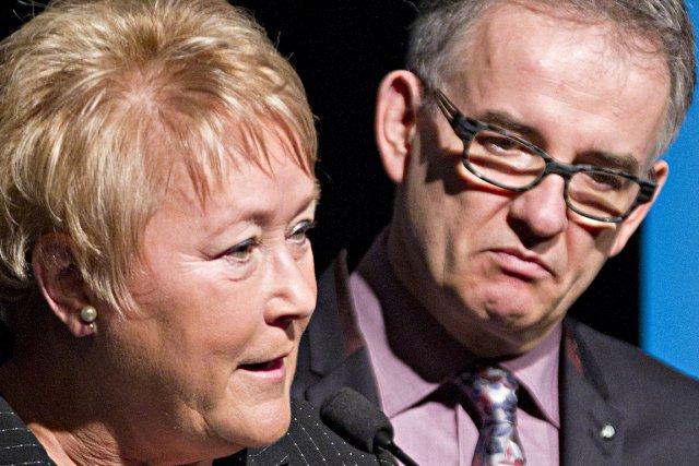 La première ministre du Québec, Pauline Marois, et... (Photos: Anne Gauthier, archives La Presse)