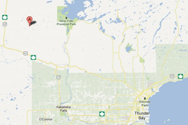 La petite communauté de Neskantaga, une réserve indienne du nord de l'Ontario,... (IMAGE TIRÉE DE MAPS.GOOGLE.CA)