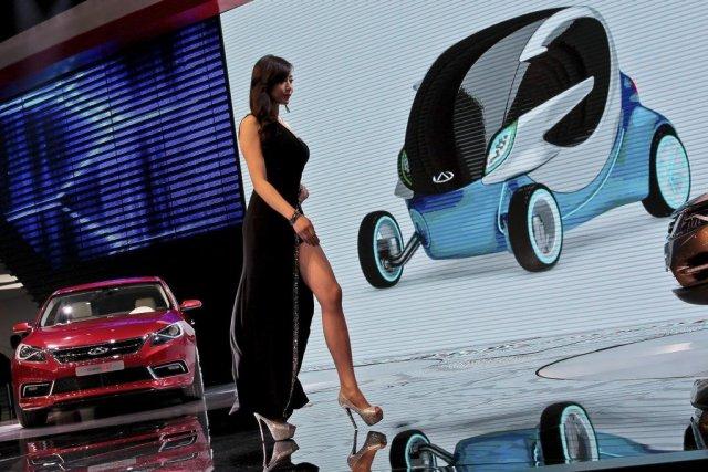 Le Salon de l'automobile de Shanghai est le... (Photo AP)