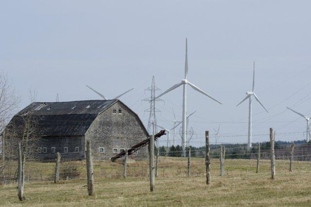 Au Québec, l'industrie manufacturière éolienne ne réussit pas... (Photo: Bernard Brault, archives La Presse)