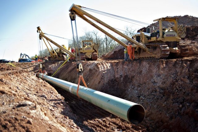 Une section du projet de pipeline Gulf Coast... (Photo Reuters)