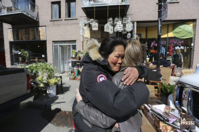 La fleuriste Tamey a perdu son commerce sur... (Photo Martin Chamberland, La Presse)