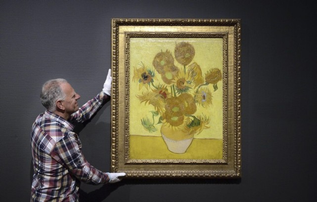 Les Tournesols de Vincent Van Gogh... (Photo: archives AFP)