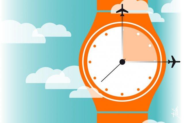 Combien de temps faut-il arriver à l'aéroport avant son vol? (Illustration Julien Chung, La Presse)