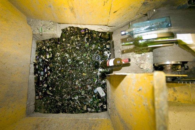 Environ 70 % du verre des centres de... (Photo: Alain Roberge, La Presse)