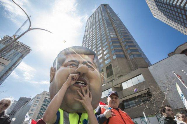 Une manifestation nationale contre la réforme de l'assurance-emploi... (PHOTO OLIVIER PONTBRIAND LA PRESSE)