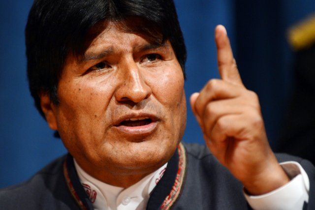 Le président bolivien Evo Morales.... (PHOTO STAN HONDA, ARCHIVES AFP)