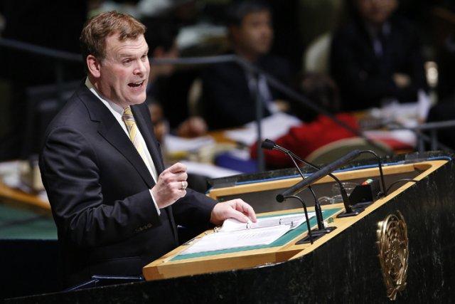 John Baird s'adressant à l'ONU en novembre 2012.... (Photo: Reuters)