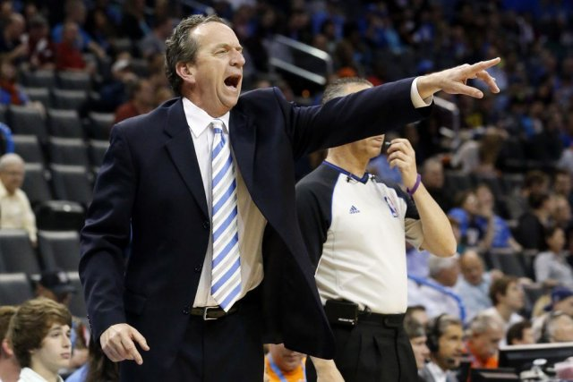 Milwaukee Bucks head coach Jim Boylan shouts to... (Sue Ogrocki)