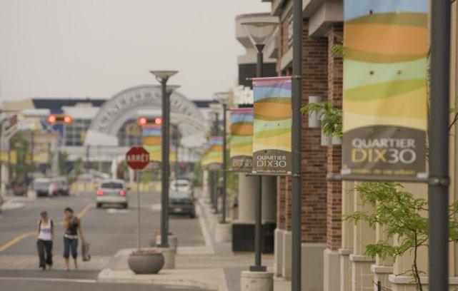 Une rue du quartier Dix30.... (Photo David Boily, La Presse)