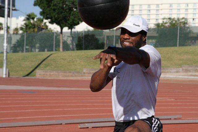 Jean Pascal à l'entraînement à Las Vegas.... (Photo: Yannick Fleury, La Presse)